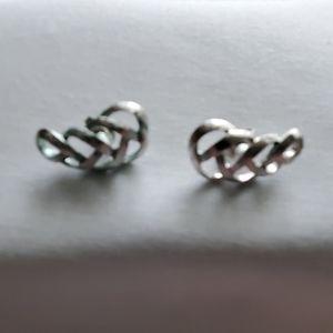 Silver scroll earrings